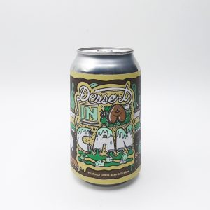 """Bière Canette """"DIC Pistachio Cookie Dough"""" de la brasserie Amundsen. Stout façon gâteau Pistache Ice Cream"""