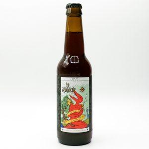"""Bière Bouteille """"Cognac Barrel"""" de la brasserie La Débauche. Une Bière ambrée travaillée avec du bois de chêne français et du Cognac. Boisée et légèrement caramélisée. Une véritable découverte gustative."""
