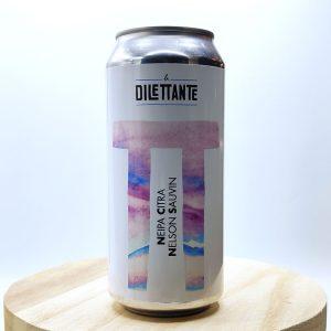 """Bière Canette """"NEIPA Citra x Nelson Sauvin"""" de la brasserie La Dilettante. Une NEIPA épaisse, juteuse et largement houblonnée. Le genre de bière parfaite en toute occasion."""