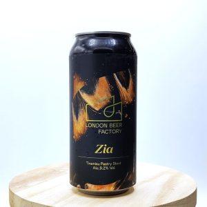 """Bière Canette """"Zia"""" de la brasserie London Beer Factory. Pastry Stout Tiramisu"""
