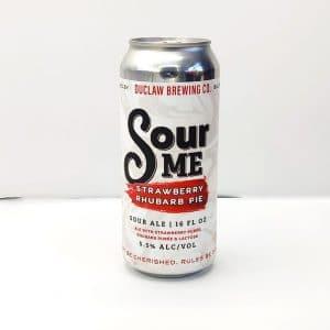 """Bière Canette """"Sour Me"""" de la brasserie Duclaw."""